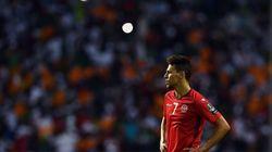 Les joueurs de l'équipe nationale tunisienne adressent un message d'encouragement à Youssef Msakni avant son opération