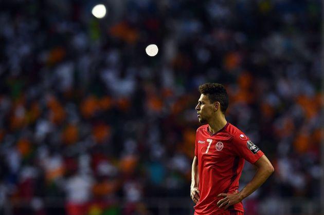 Les joueurs de l'équipe nationale tunisienne adressent un message d'encouragement à Youssef Msakni avant...