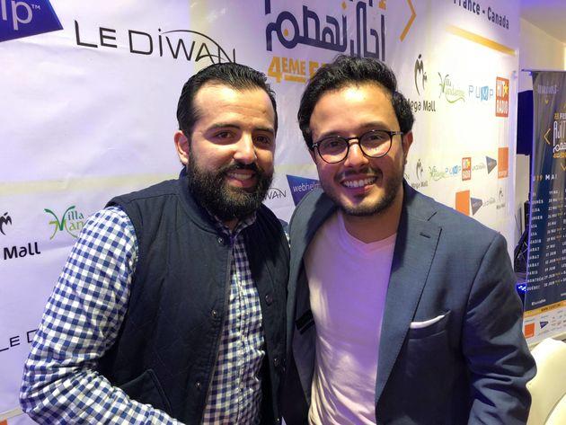 Amine Belghazi (à gauche) et Oubeid Allah Hlal (à droite) forment le duo Les