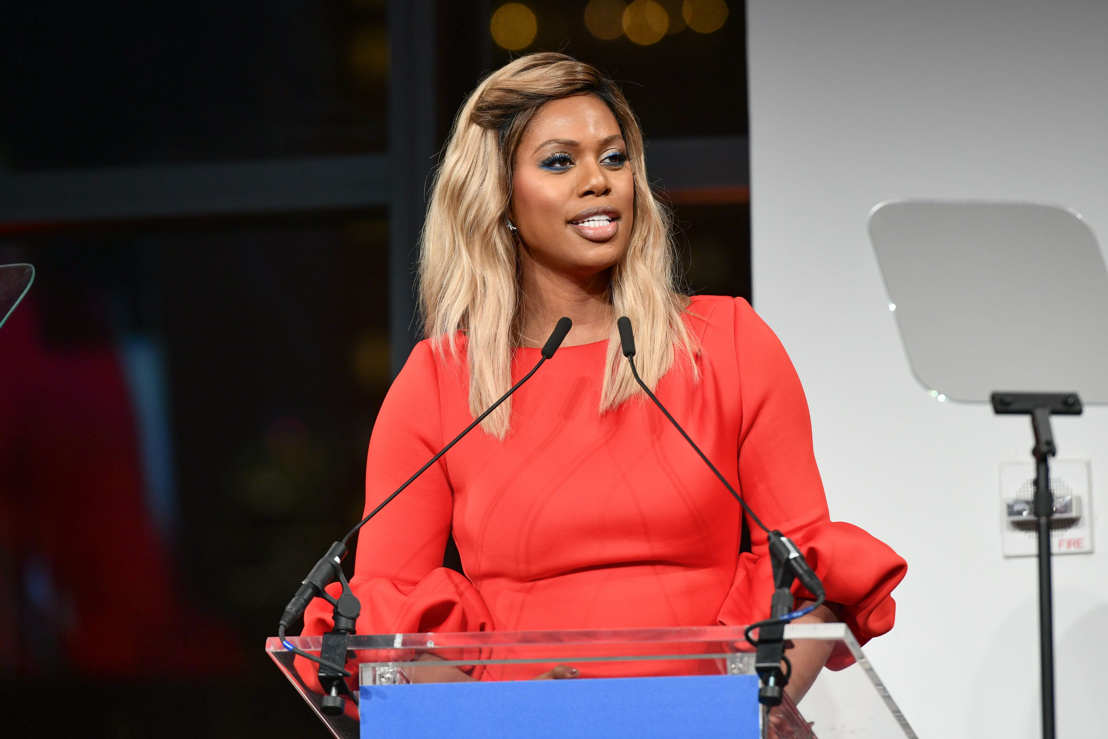Laverne Cox attends Planned Parenthood's Spring Gala honoring Cecile Richards on May 1, 2018, in New York City.