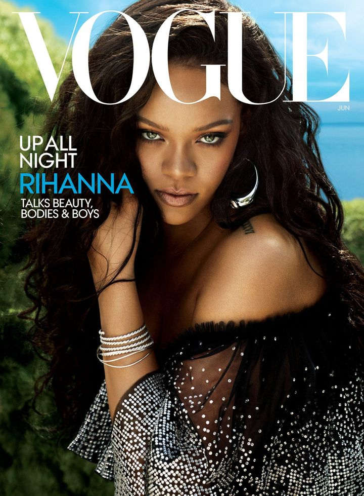 Rihanna covers the June issue of Vogue.