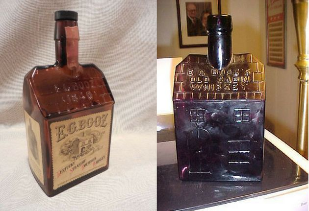 Vintage bottles from Booz's distillery are available on