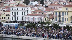 Στους δρόμους οι κάτοικοι της Μυτιλήνης διαμαρτυρόμενοι για την επίσκεψη Τσίπρα