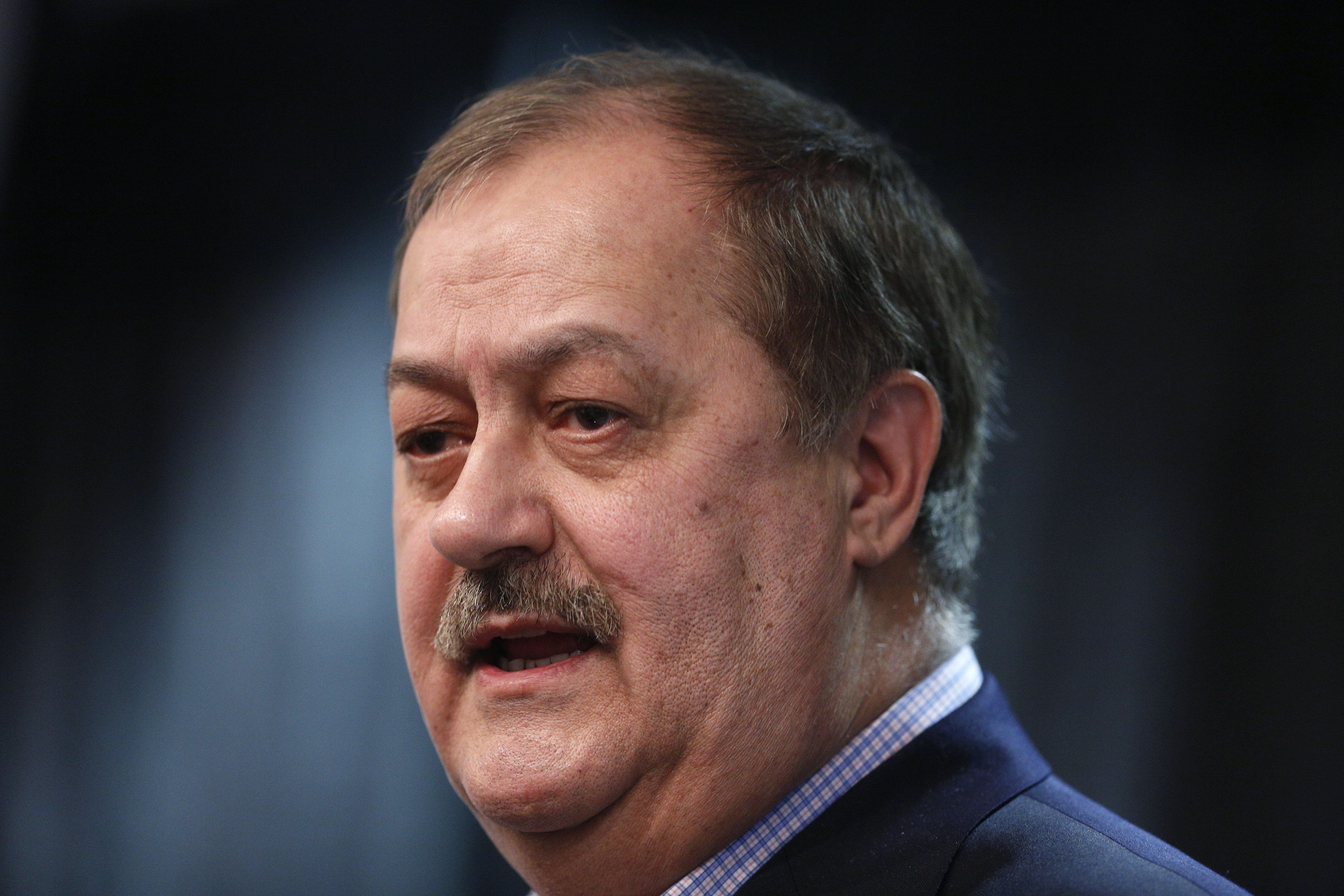 Former Massey Energy CEO Don Blankenship, a Republican U.S. Senate candidate from West Virginia, at a...
