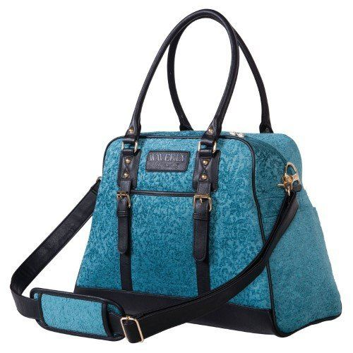 """Get it <a href=""""https://jet.com/product/Waverly-Baby-by-Trend-Lab-Stetson-Lagoon-Carryall-Diaper-Bag/f17102f1acb54ebba7f78689"""
