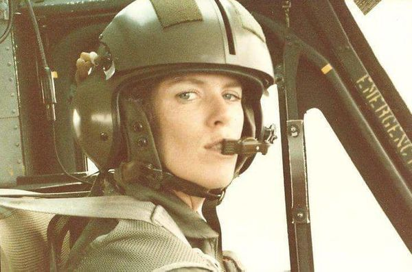 """""""My mom, Patricia Fields Neubert, was an instructor pilot for the Army at Fort Rucker in Alabama in the1980s. She had a"""