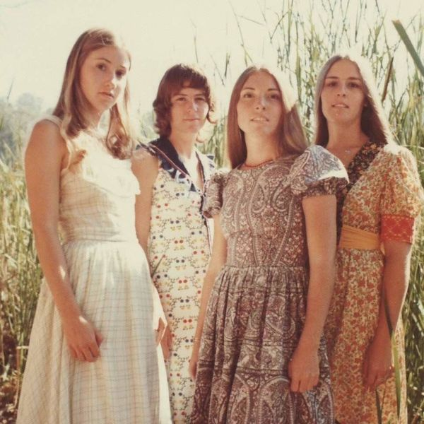"""""""Here's my mother, Brigid, and her sisters in the summer of 1970. She's on the far left. She was 18 at the time and she's wea"""