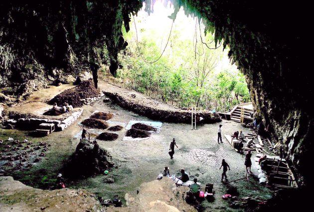Ανασκαφές στο νησί Flores...