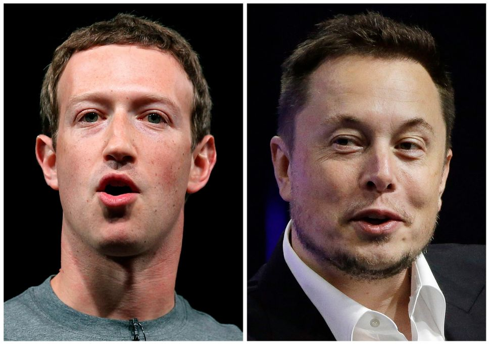 Mark Zuckerberg, left, and Elon Musk, right, have both come out in favor of universal basic income.