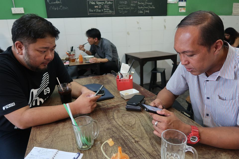 Lee (left) and Mahshar are involved in efforts to make Malaysia's upcoming midweek election...