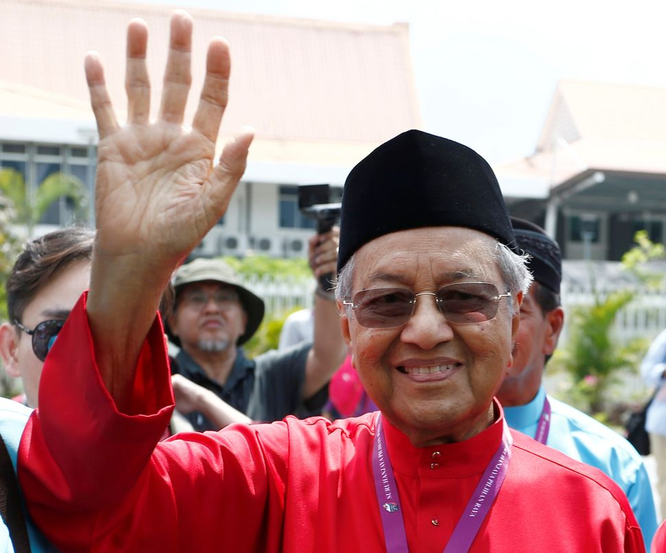 Former Malaysian Prime Minister Mahathir Mohamad is a candidate in Malaysia's general election.
