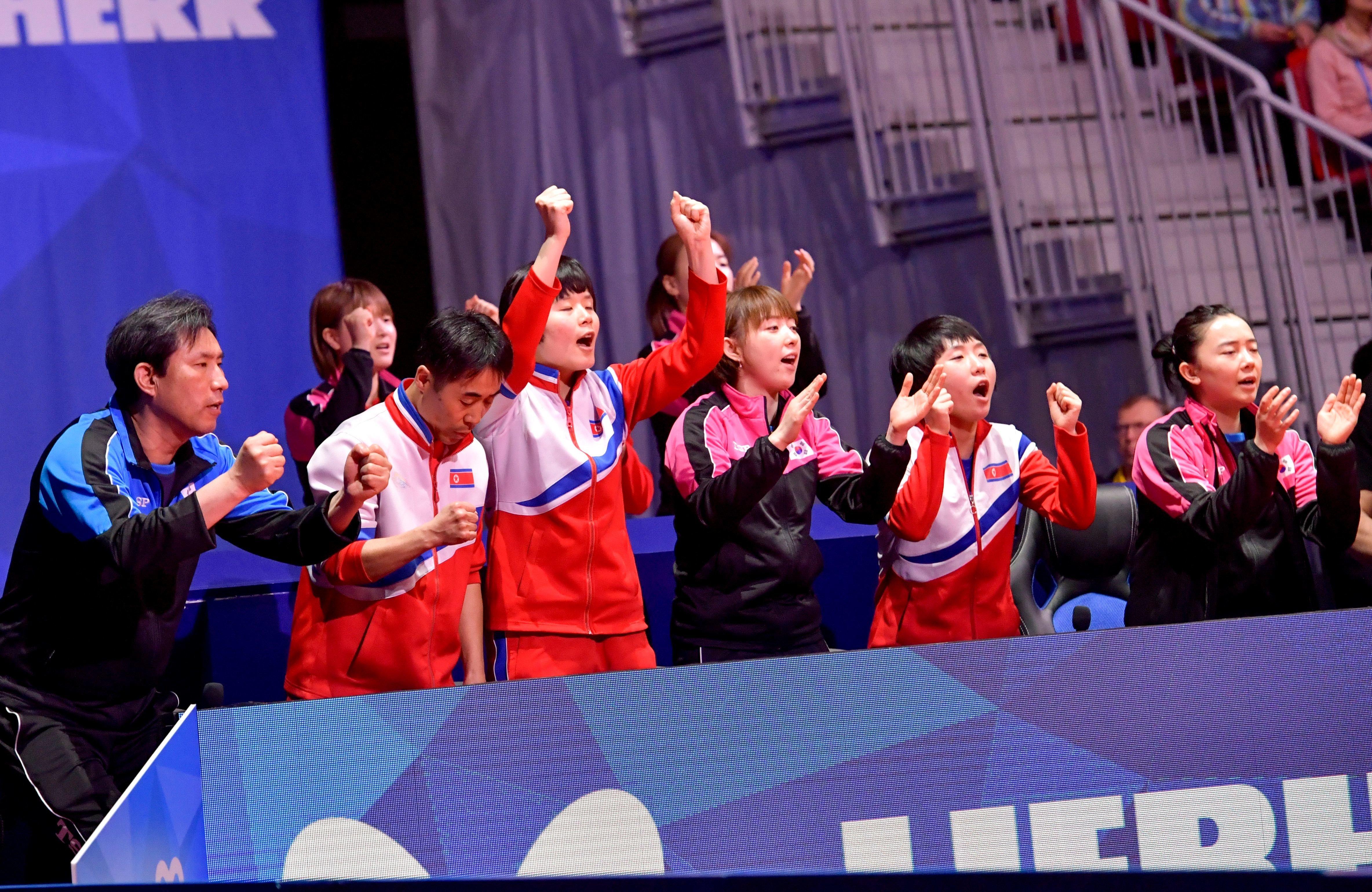 여자탁구 단일팀이 4강전에서 일본에