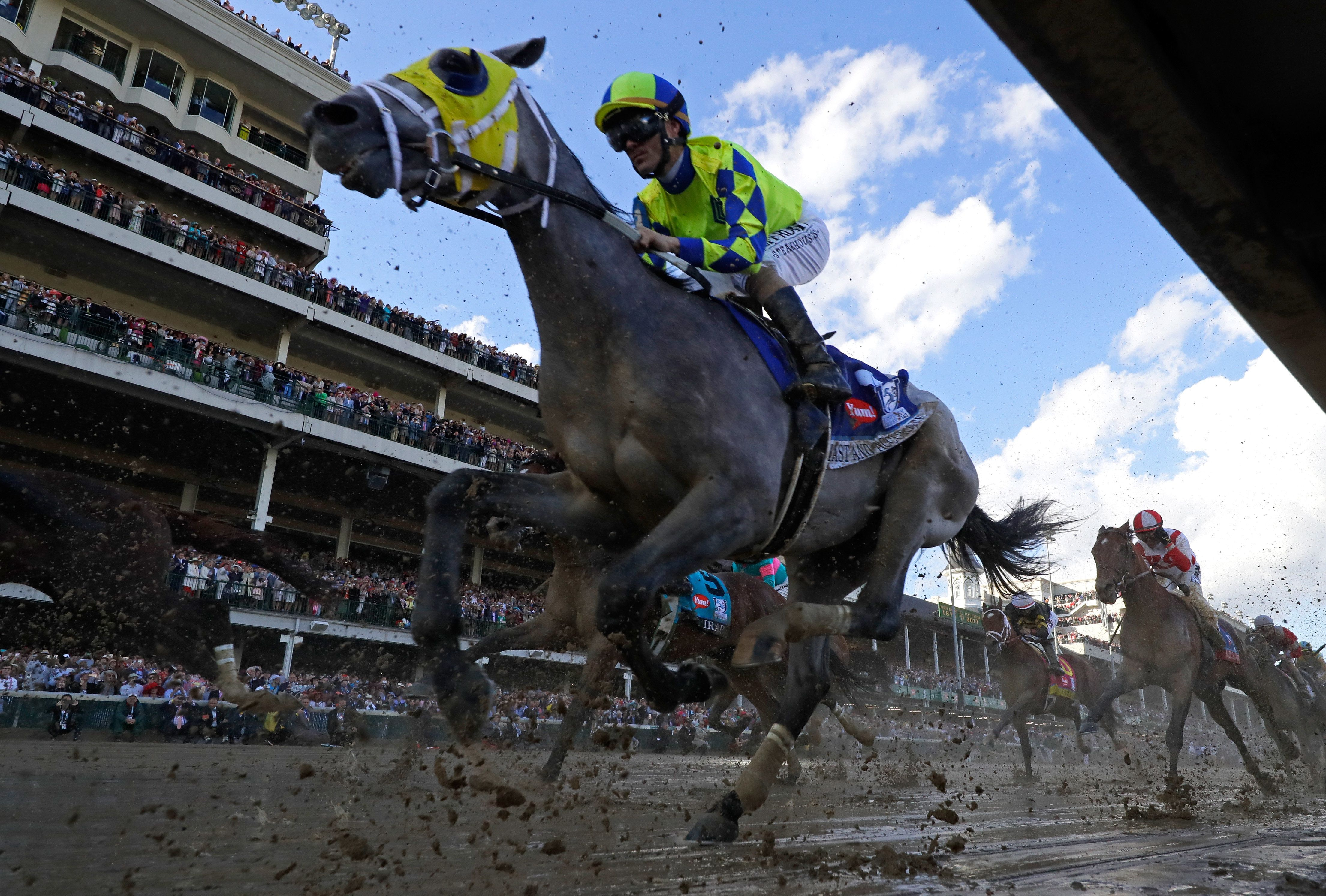 """In 2017, jockey John Velazquez won the Kentucky Derby with his horse Always Dreaming. Here's how the popular expression """"hands down"""" ties into all of this."""