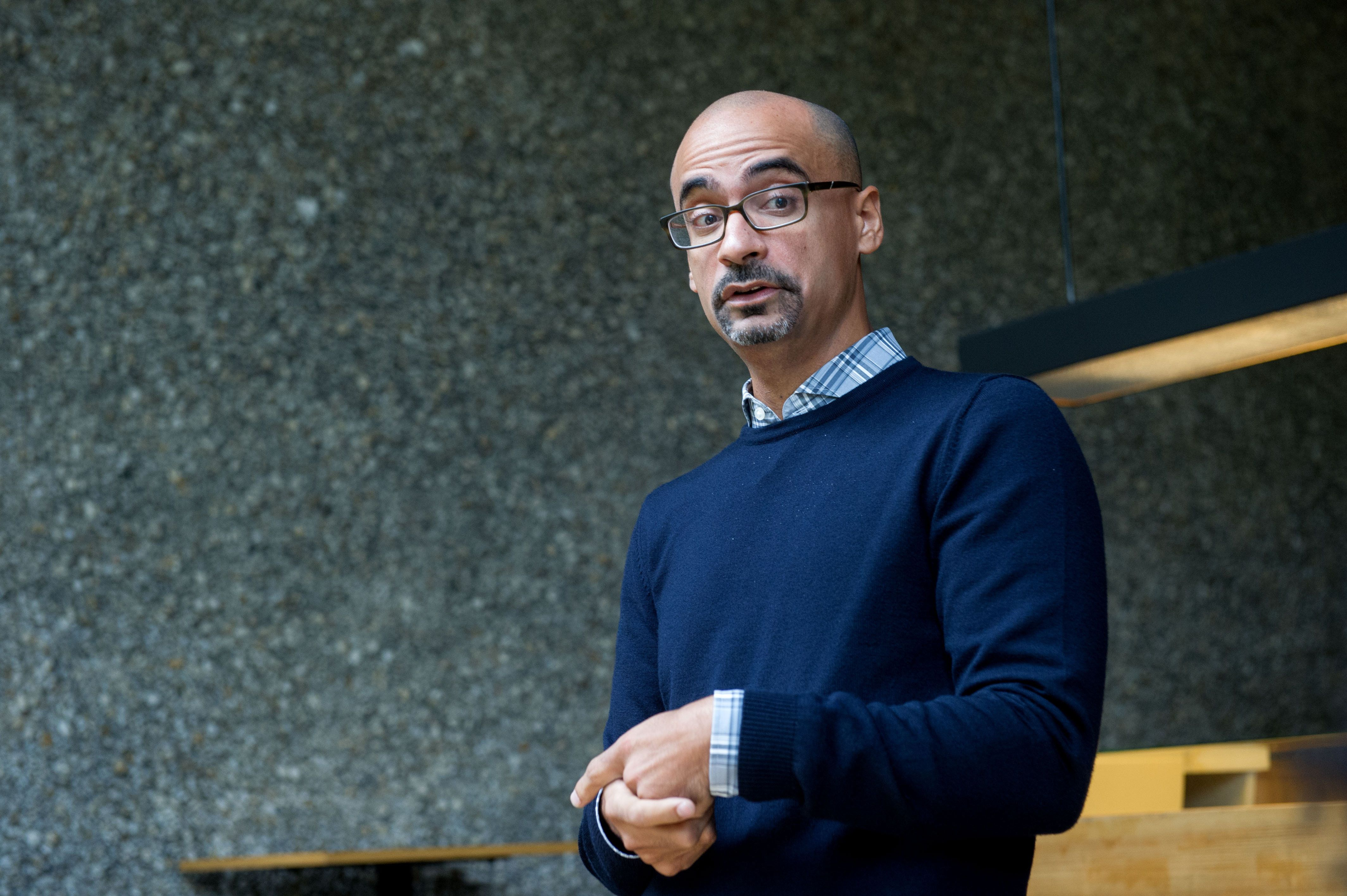 Junot Diaz pictured at a Berlin literary festival in 2014.