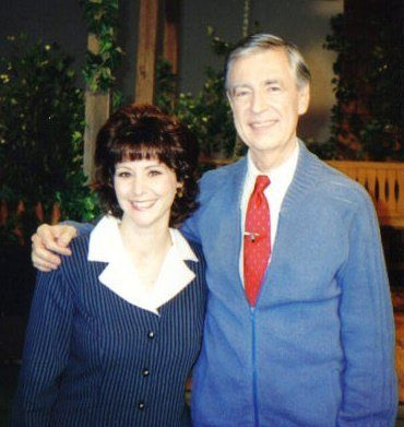 """Amy Hollingsworth and Fred Rogers' first meeting took place in 1994on the set of """"Mister Rogers' Neighborhood"""" in"""