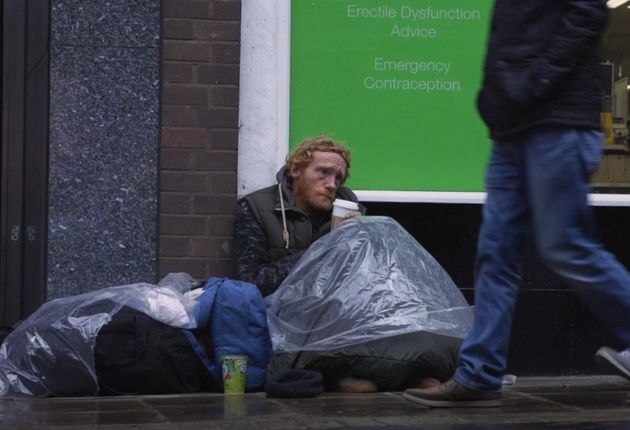 Rough sleeper Wayne described to HuffPost a vicious attack he suffered in