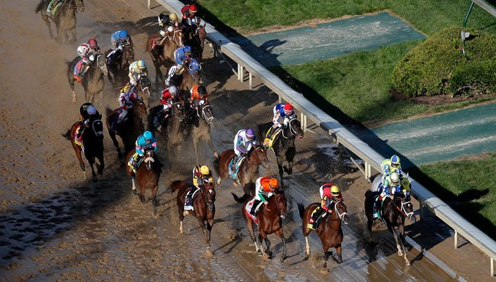 Here, the 2017 Kentucky Derby competitors race on. When it comes to naming these thoroughbreds, there are several guidel
