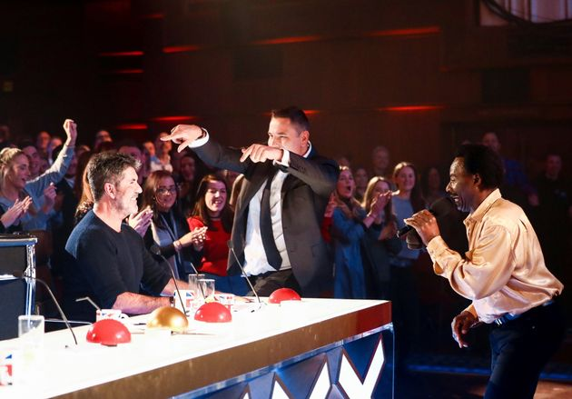 Donchez (and David Walliams) perform for Simon