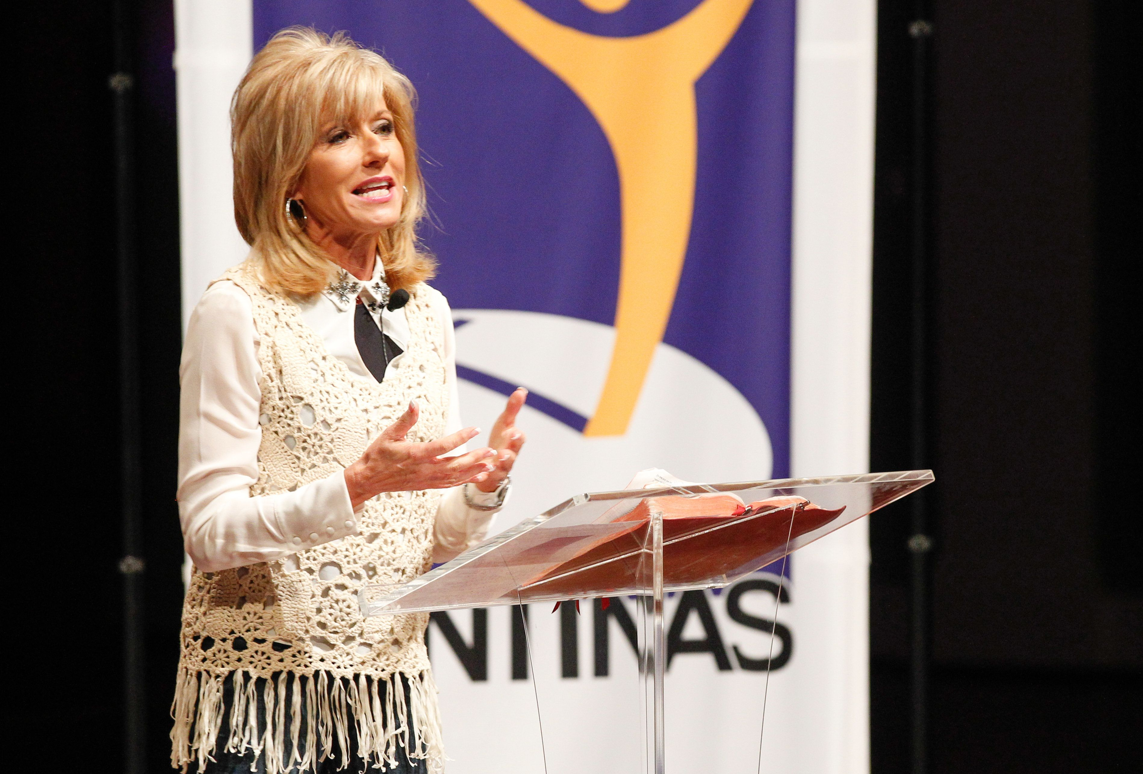 """""""I was the elephant in the room with a skirt on,"""" Beth Moore writes."""