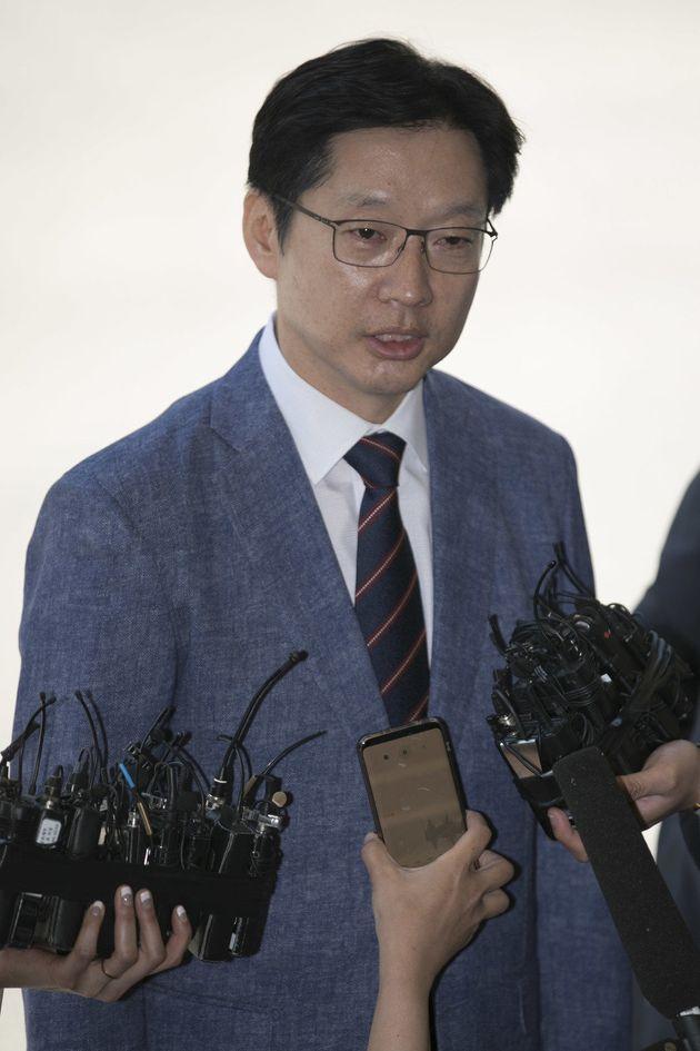 김경수 의원이 밤샘조사를 끝내고 자유한국당을 향해 한