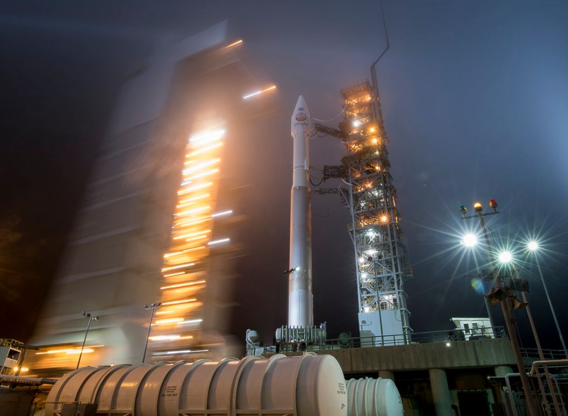 Luminous Scenes As Nasa Launch Rocket Into Space To Study Interior Of