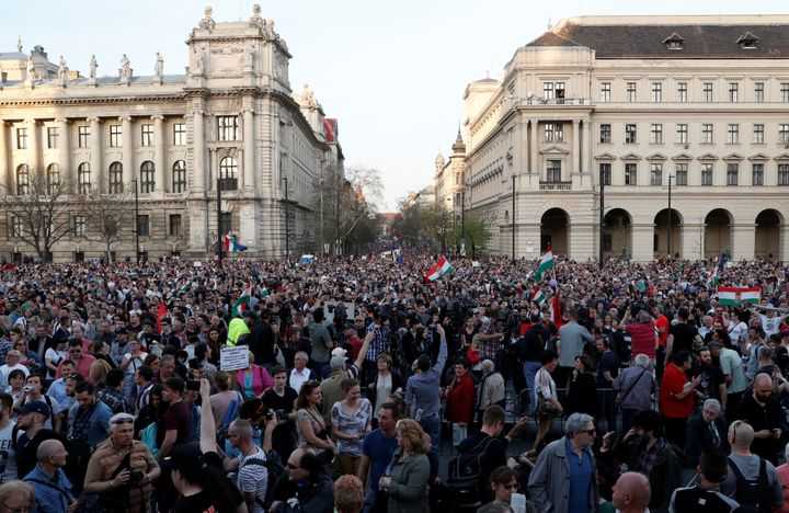 There have been mass anti-government demonstrations in Budapest since Orbán won reelection last month.