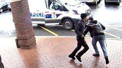 Un grand-père aide la police à arrêter un suspect à l'aide d'un croche-pied