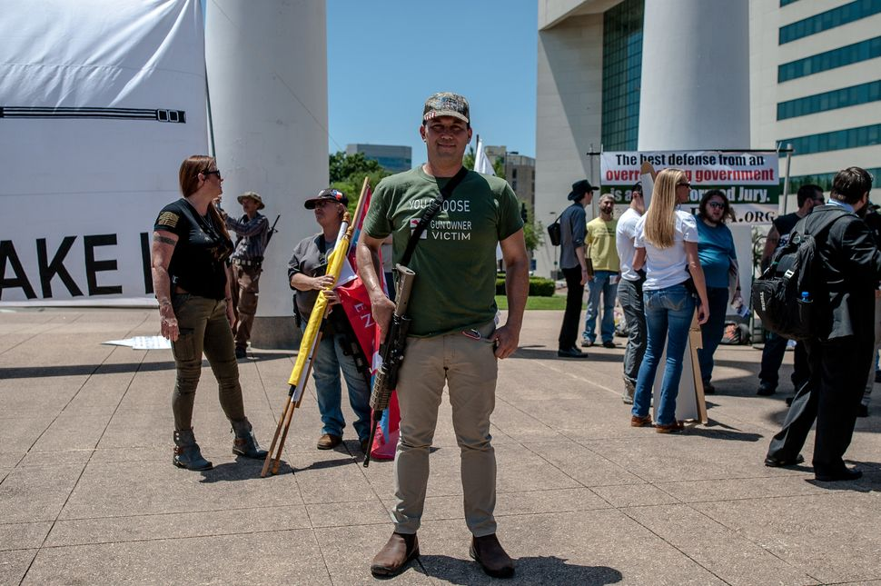 Lawrence Solem took part in a pro-Second Amendment rally on Saturday, May 5.