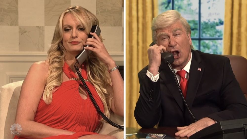 Stormy Daniels and Alec Baldwins Donald Trump