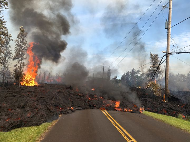 More lava on the road.