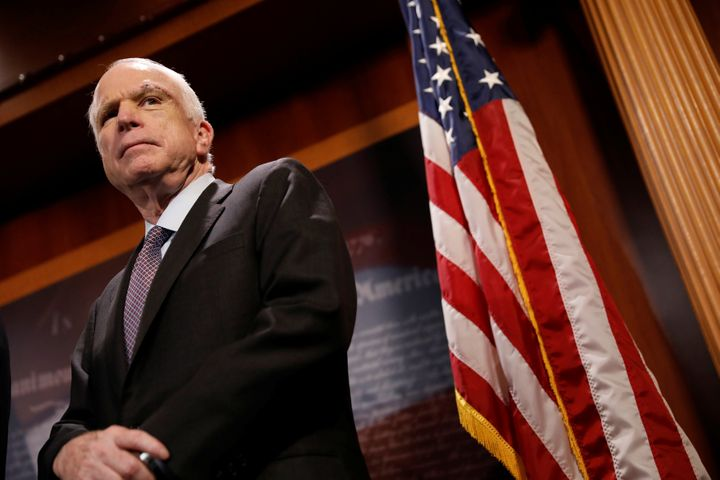 Sen. John McCain (R-Ariz.) is seen last summer after having surgery to combat an aggressive form of brain cancer. McCain