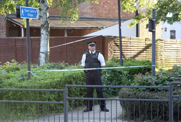 Police close to Palmerston Road and the A409, following two shootings at two locations in close proximity in, Wealdstone, in north-west London.