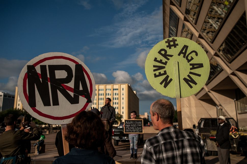 Attendees of the Dallas Stands Against the NRA rally onFriday.