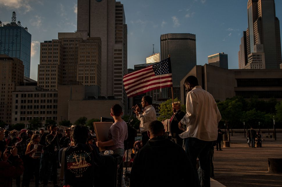 The Dallas Stands Against the NRA rally onFriday.