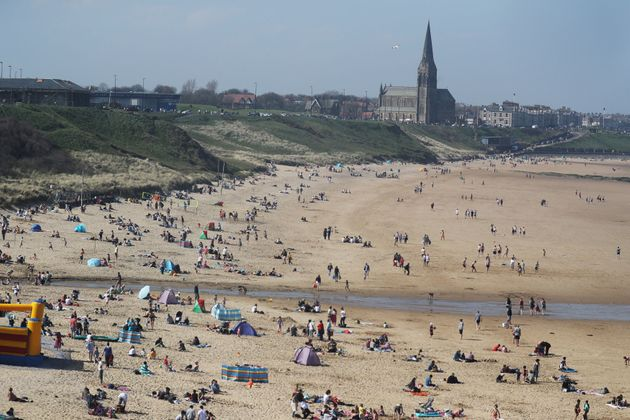 Tynemouth Beach in North Tyneside.