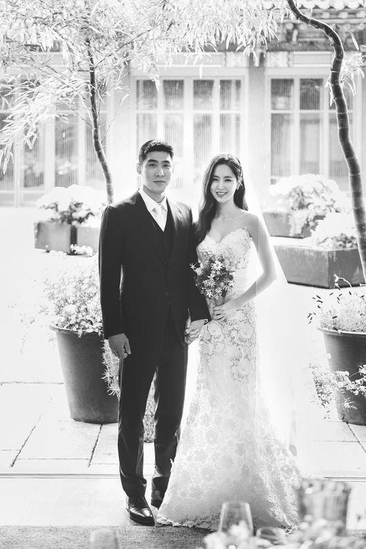 한채아·차세찌 부부의 결혼 사진이