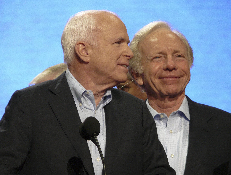 Sen. Joe Lieberman (right) endorsed and campaigned for Sen. John McCainduring the2008 presidential election.