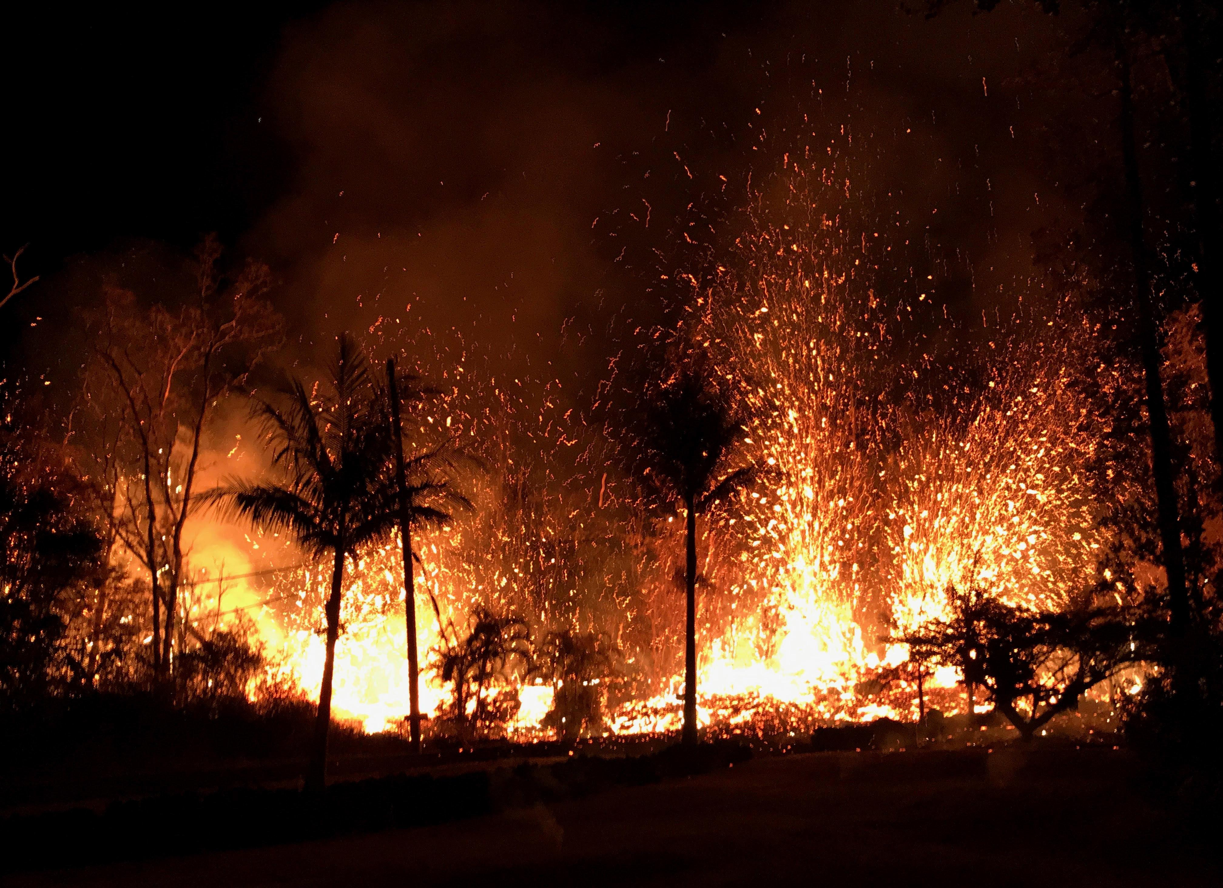 하와이 킬라우에아 화산에서 용암 분출이 계속되고