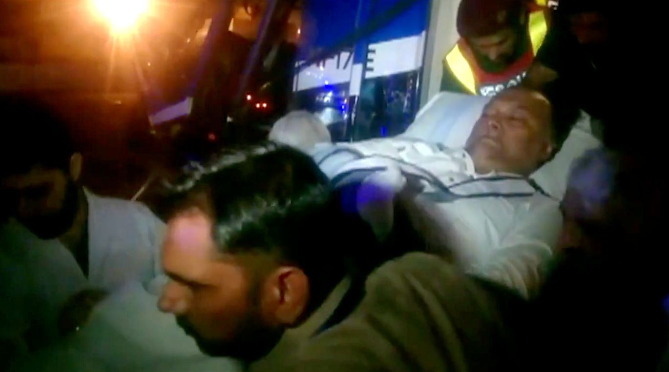 Pakistans Interior Minister Ahsan Iqbal was shot as he was leaving a constituency meeting on Sunday