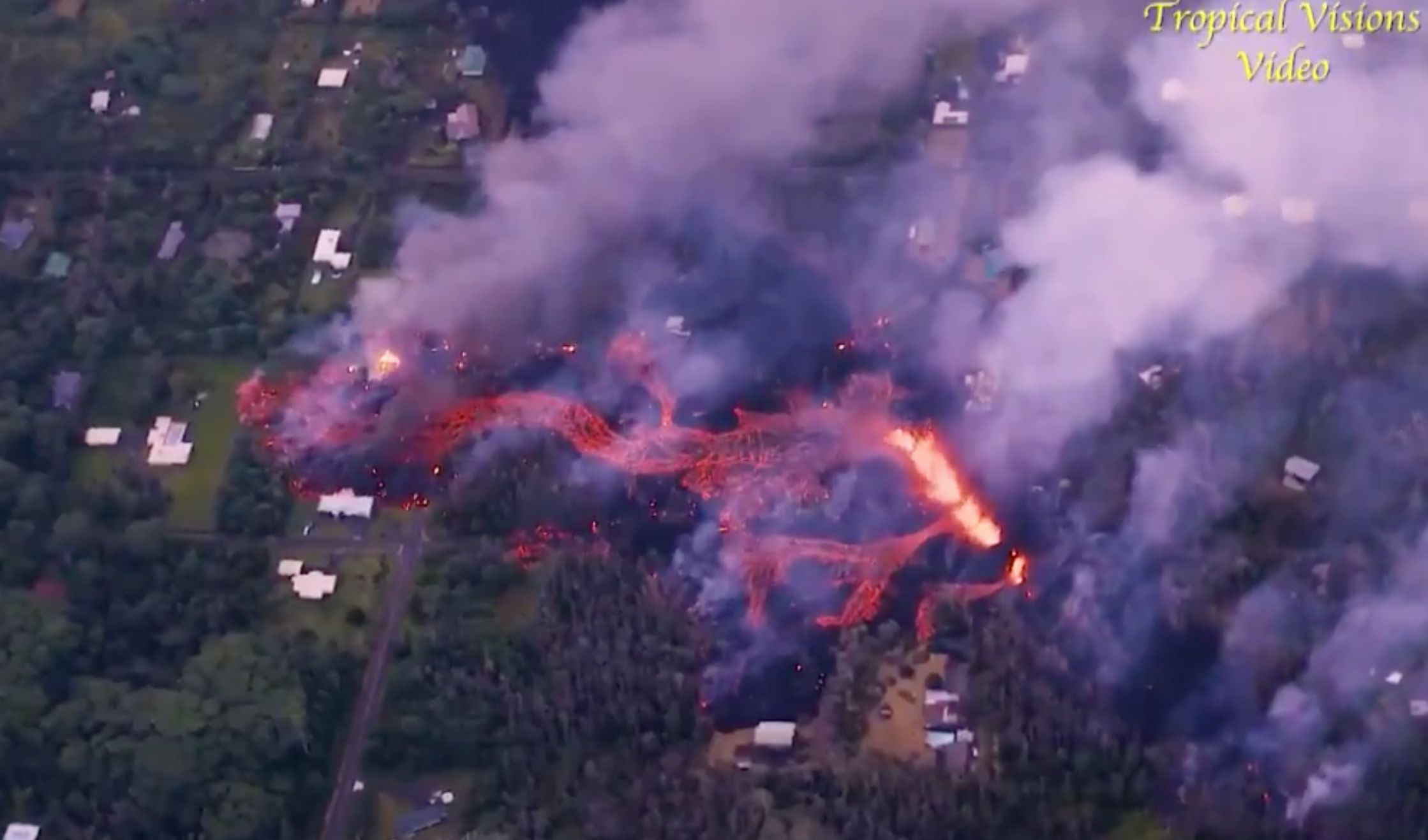 Hawaii's Kilauea Volcano Destroys Dozens Of Homes, Shows 'No Sign Of Slowing