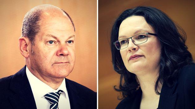 Die Architekten des SPDebakels: Olaf Scholz und Andrea