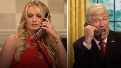 Stormy Daniels nargue Trump dans un sketch du