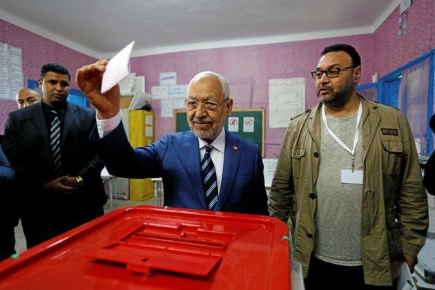 Ο Rached Ghannouchi, επικεφαλής του...