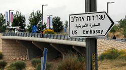 A Jérusalem, les 1ers panneaux indiquant l'ambassade américaine sont