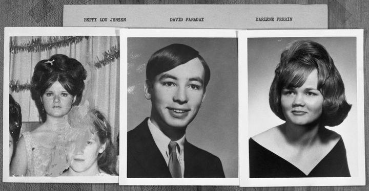 Murder victims Betty Lou Jensen, David Faraday and Darlene Ferrin.