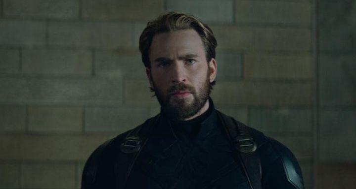 "Chris Evans as Steve Rogers in ""Avengers: Infinity War."""