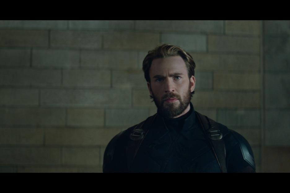 "Chris Evans as Captain America in ""Avengers: Infinity War."""