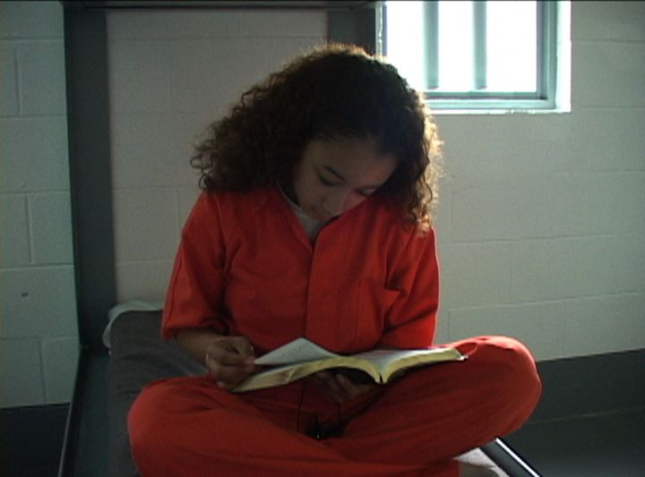 Brown awaits a transfer hearing in 2004 to determine whether she should be tried as an adult, in a scene from thedocume