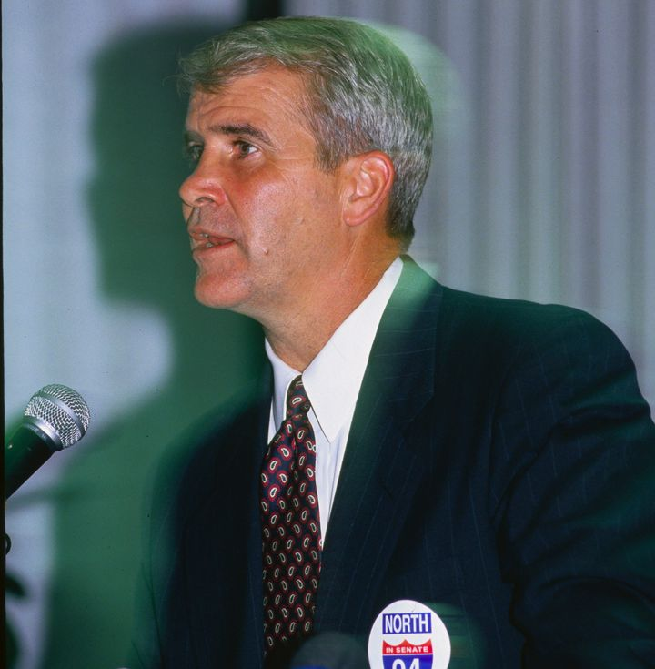 North ran for Senate as a Republican in 1994, but lost to incumbent Sen. Chuck Robb (D-Va.).