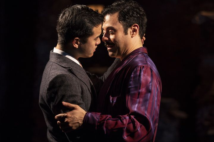 "Daniel K. Isaac (left) and Juan Francisco Villa star as William Inge and Tennessee Williams in ""The Gentleman Caller,"" which"
